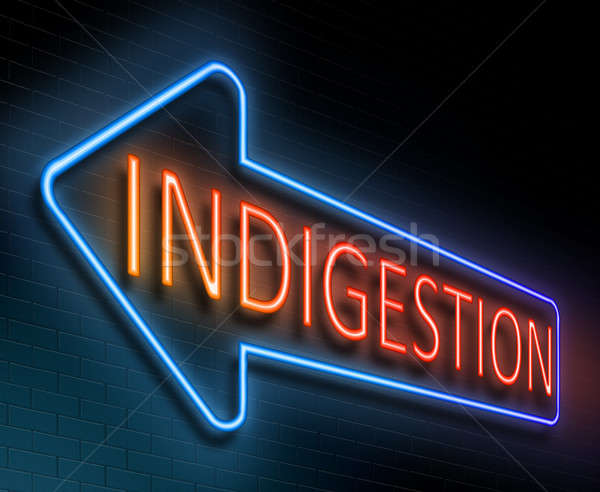 Indigestion sign concept. Stock photo © 72soul