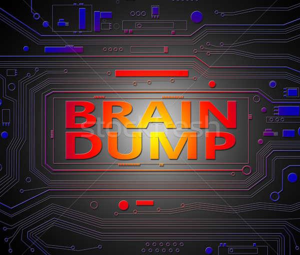 Beyin dijital baskılı devre bileşenler teknoloji Stok fotoğraf © 72soul