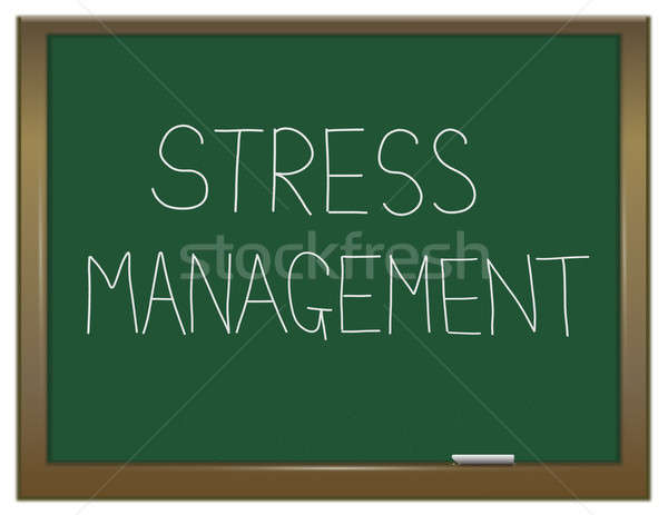 Stress gestion illustration vert tableau écrit Photo stock © 72soul