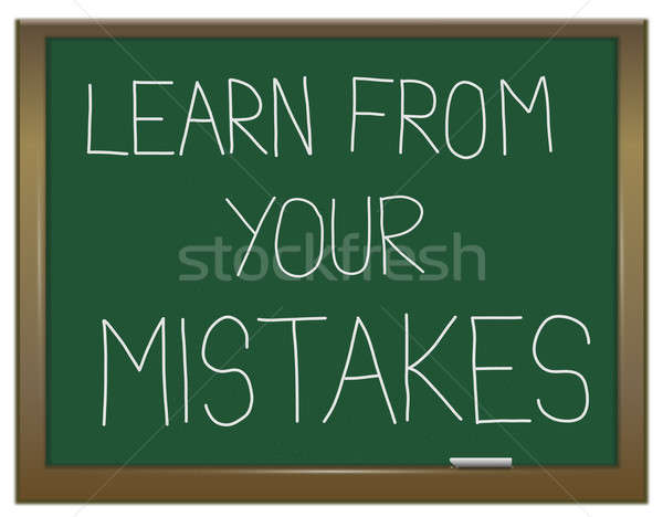 Learn from your mistakes. Stock photo © 72soul