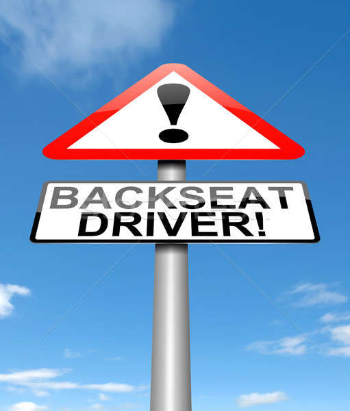 Backseat driver concept. Stock photo © 72soul