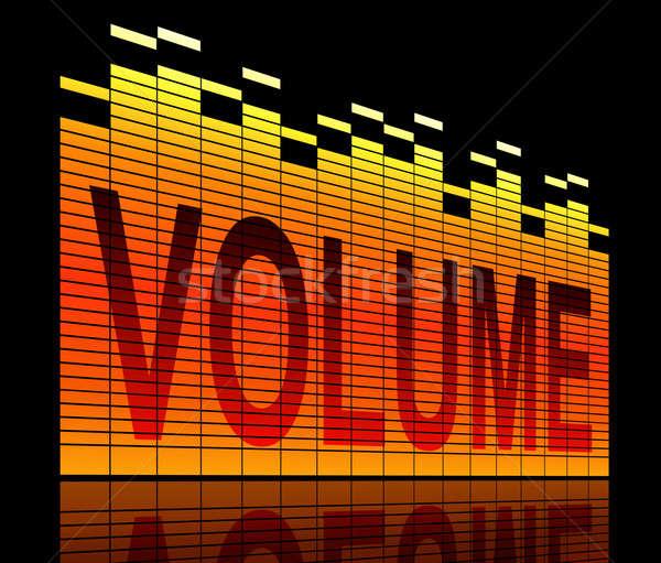 Volume illustration graphique égaliseur niveau bars Photo stock © 72soul