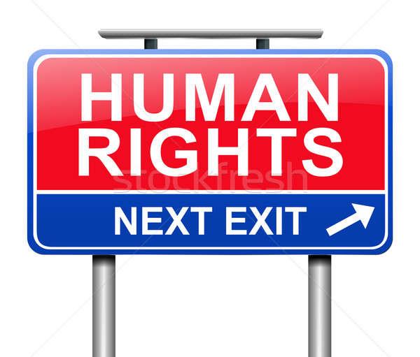 Derechos humanos ilustración signo gráfico libertad fondo blanco Foto stock © 72soul