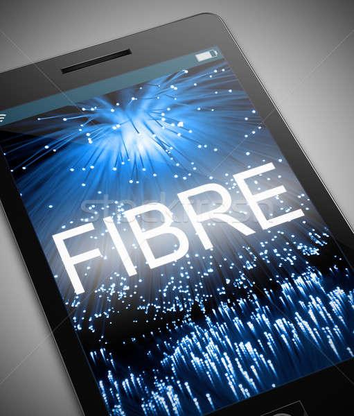 Włókno optyczny ilustracja telefonu technologii sieci Zdjęcia stock © 72soul