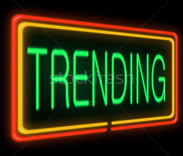 Trending concept. Stock photo © 72soul