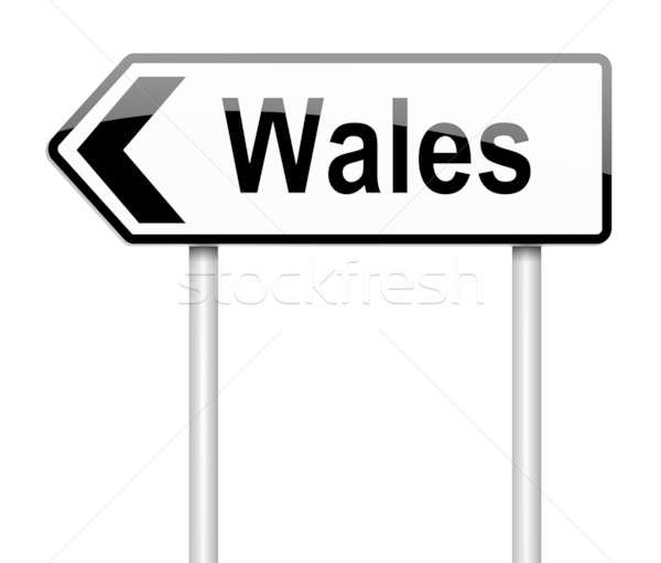 Wales sign. Stock photo © 72soul