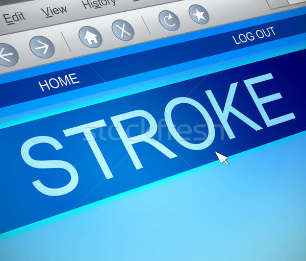 Stroke information concept. Stock photo © 72soul