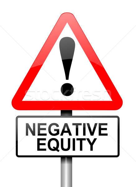негативных капитал иллюстрация красный белый Сток-фото © 72soul