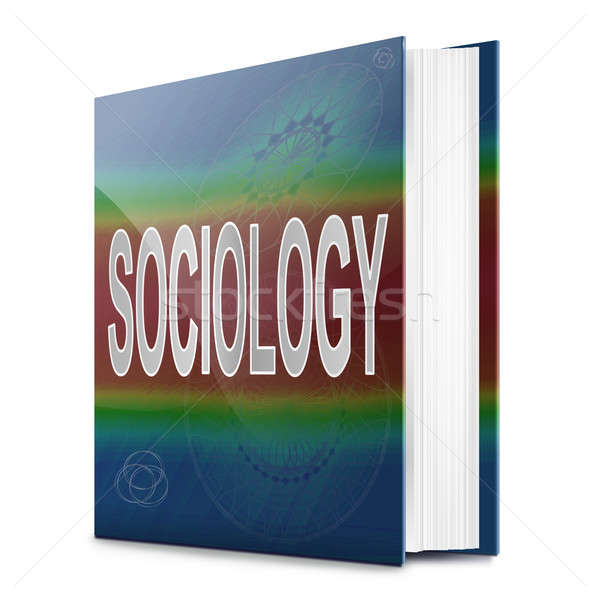 Sociologia illustrazione testo libro titolo bianco Foto d'archivio © 72soul
