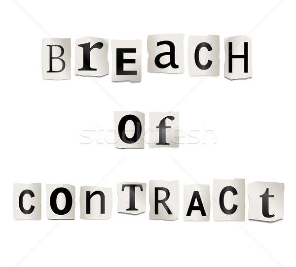 Breach of contract. Stock photo © 72soul