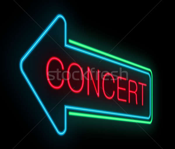 Concert sign. Stock photo © 72soul