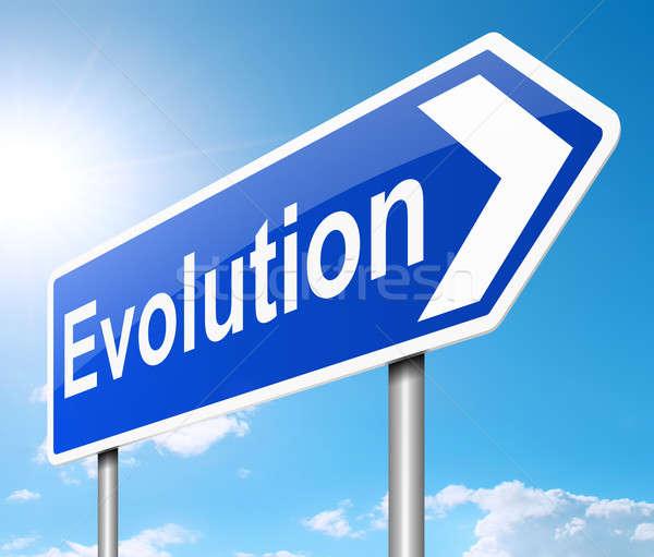 Evolutie illustratie teken groene geschiedenis grafische Stockfoto © 72soul