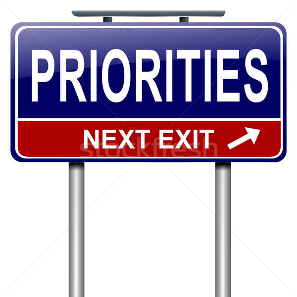 Priorities concept. Stock photo © 72soul