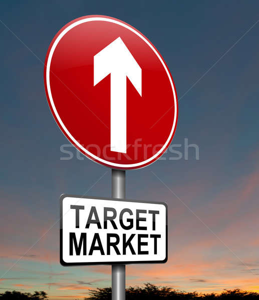 Target markt illustratie schemering hemel Stockfoto © 72soul