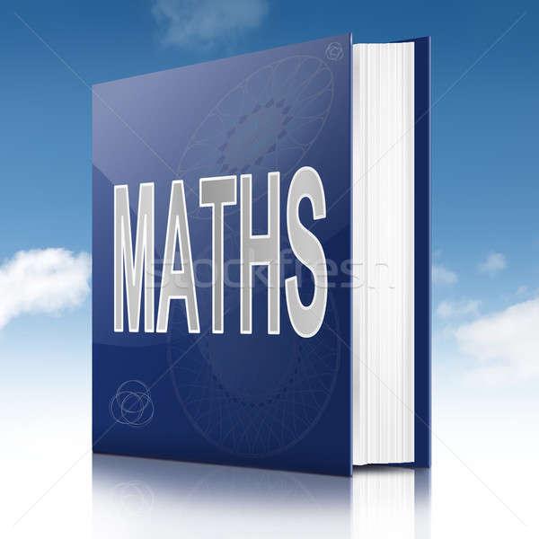 Matemática livro ilustração título céu escolas Foto stock © 72soul