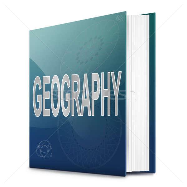 Aardrijkskunde tekst boek illustratie titel witte Stockfoto © 72soul
