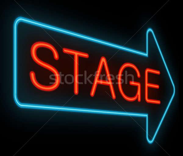 ステージ にログイン 実例 ネオン ビジネス ストックフォト © 72soul