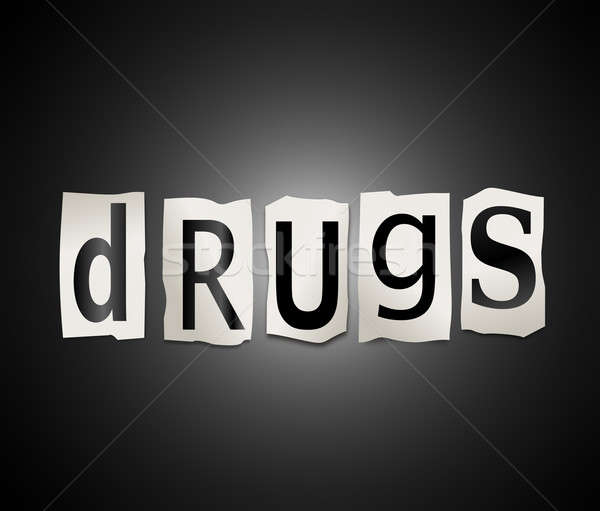 Stock photo: Drugs concept.