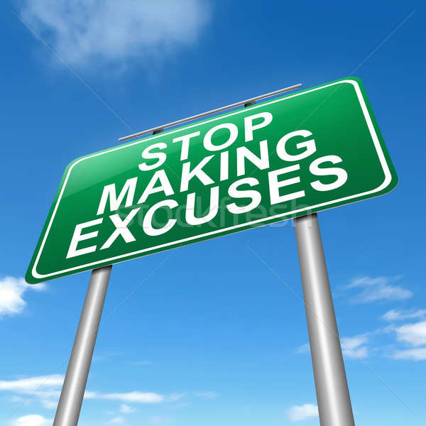 Stop excuses concept. Stock photo © 72soul