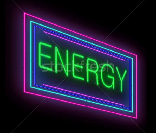 Energia illusztráció megvilágított neonreklám egészség háttér Stock fotó © 72soul