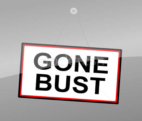 Gone bust concept. Stock photo © 72soul
