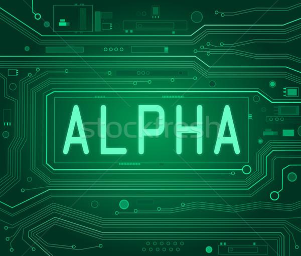 アルファ 抽象的な スタイル 実例 コンポーネント ストックフォト © 72soul