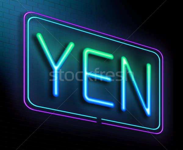 Yen örnek neon para Japon Stok fotoğraf © 72soul
