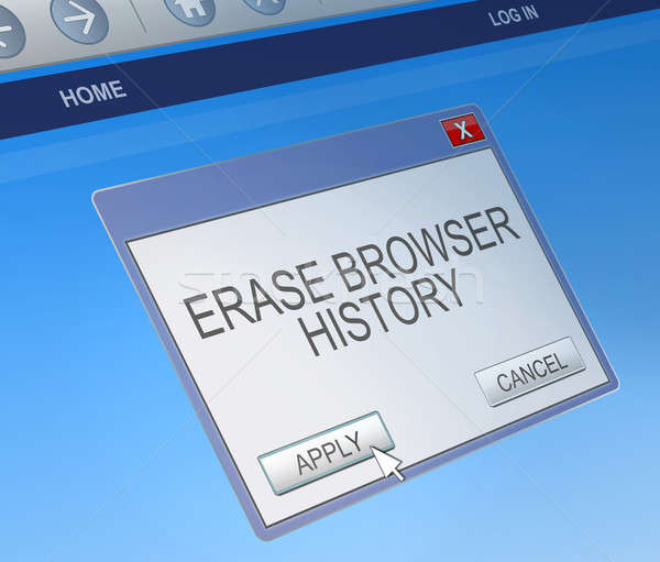 Delete browsing history concept. Stock photo © 72soul
