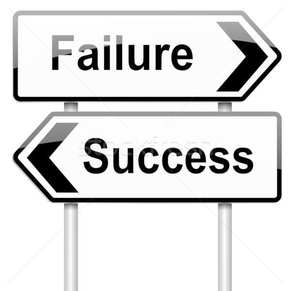 Mislukking succes illustratie witte business Stockfoto © 72soul