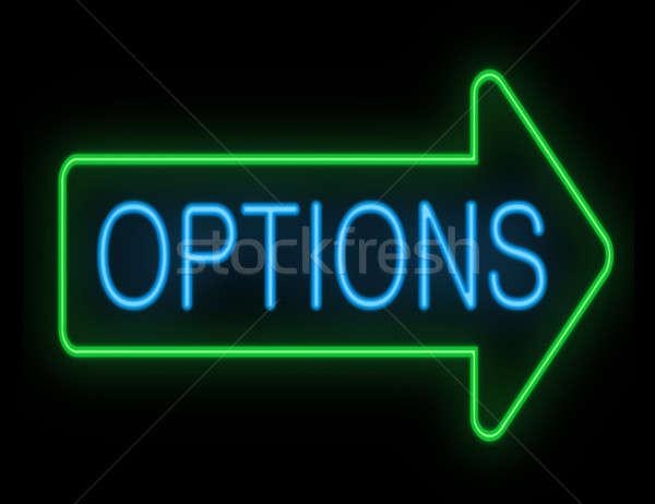 Opties illustratie neon achtergrond concept Stockfoto © 72soul
