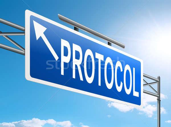 Protocol concept. Stock photo © 72soul