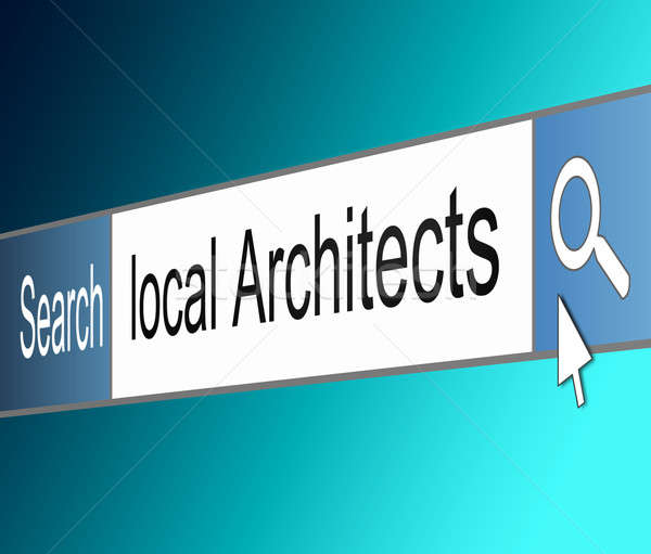 Architect search concept. Stock photo © 72soul