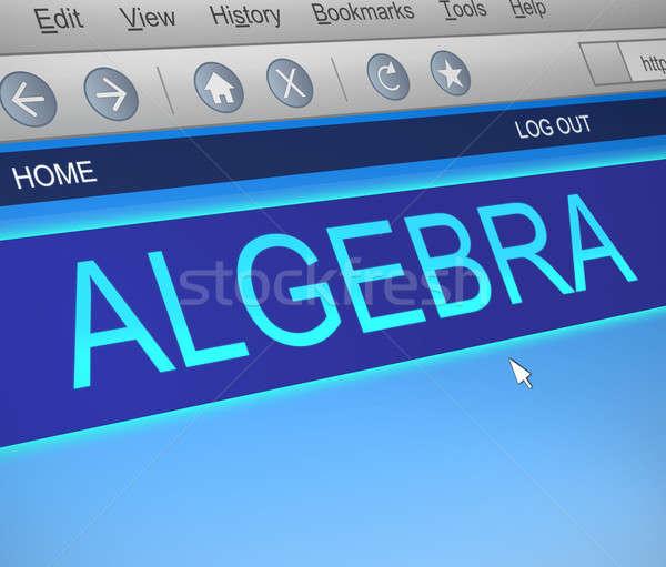 Algebra illustrazione schermo del computer catturare informazioni apprendimento Foto d'archivio © 72soul