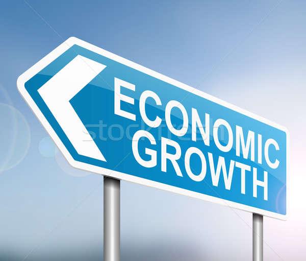 Economic creştere ilustrare semna albastru industrie Imagine de stoc © 72soul