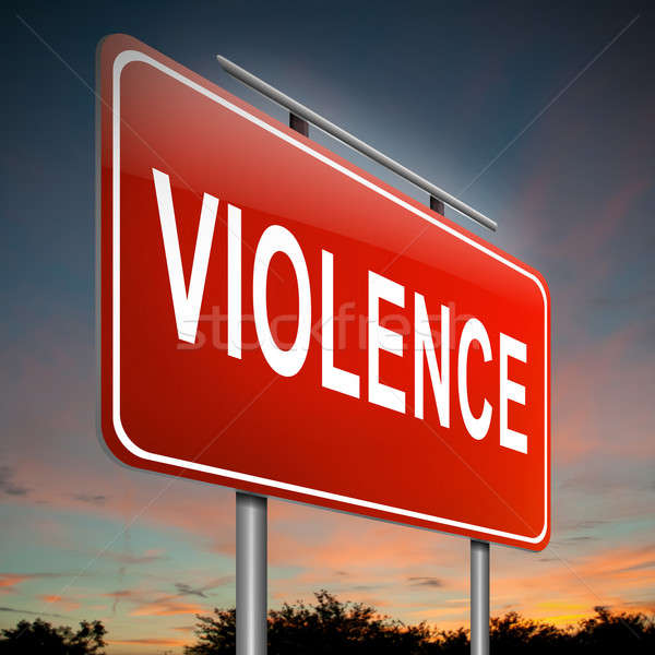 Violenza illustrazione segno sfondo rosso paura Foto d'archivio © 72soul