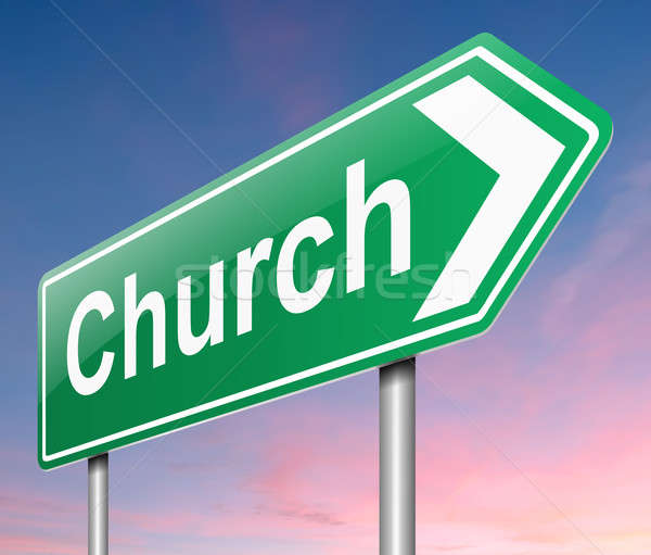 Church sign. Stock photo © 72soul