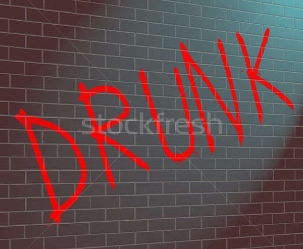 Drunk concept. Stock photo © 72soul