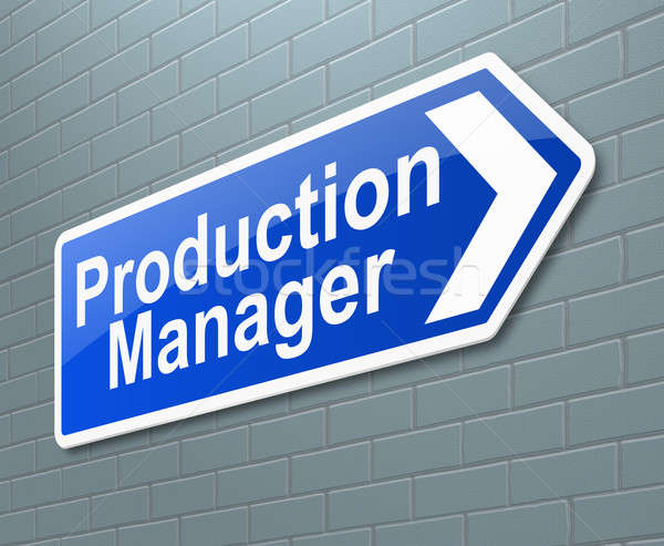 Production Manager concept. Stock photo © 72soul
