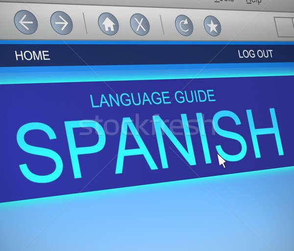 Spanish language concept. Stock photo © 72soul