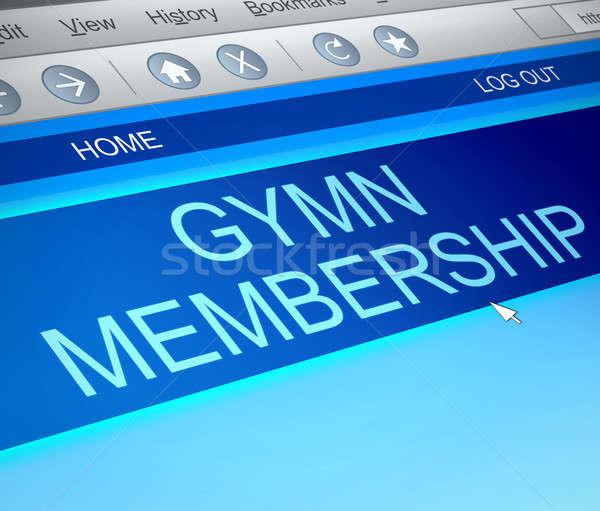 членство иллюстрация экране компьютера захват фитнес технологий Сток-фото © 72soul
