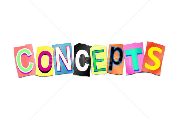Letters forming concept. Stock photo © 72soul