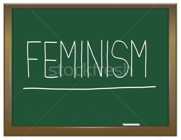 Femminismo illustrazione verde lavagna scritto amore Foto d'archivio © 72soul