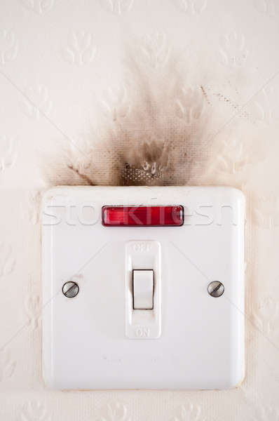 Faulty electrical wiring. Stock photo © 72soul