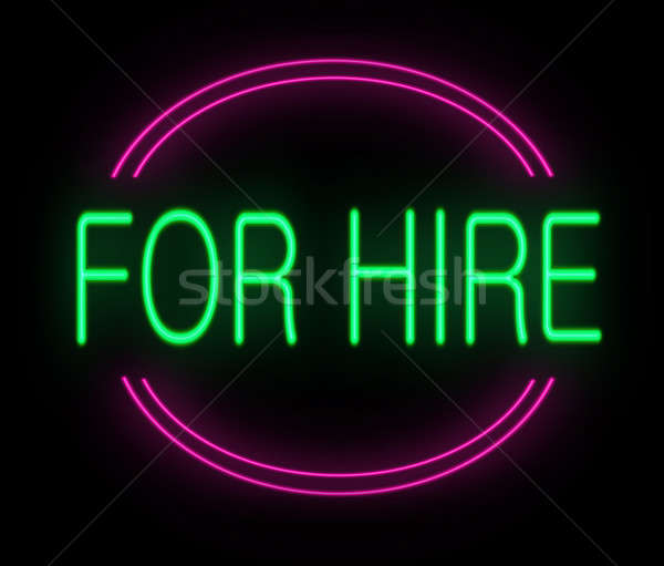 For hire sign. Stock photo © 72soul