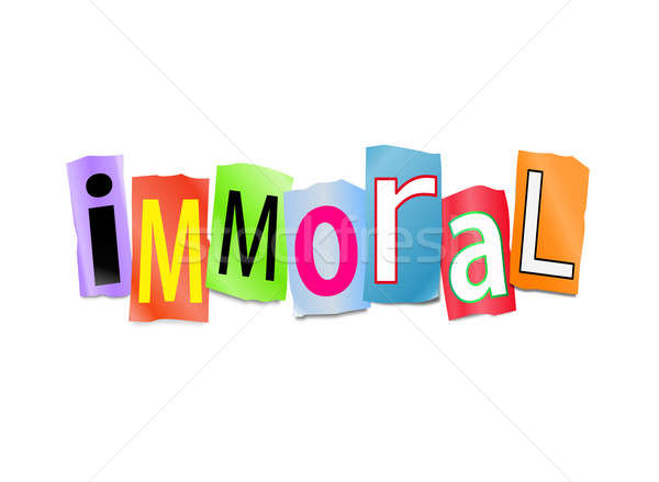 Immoral concept. Stock photo © 72soul
