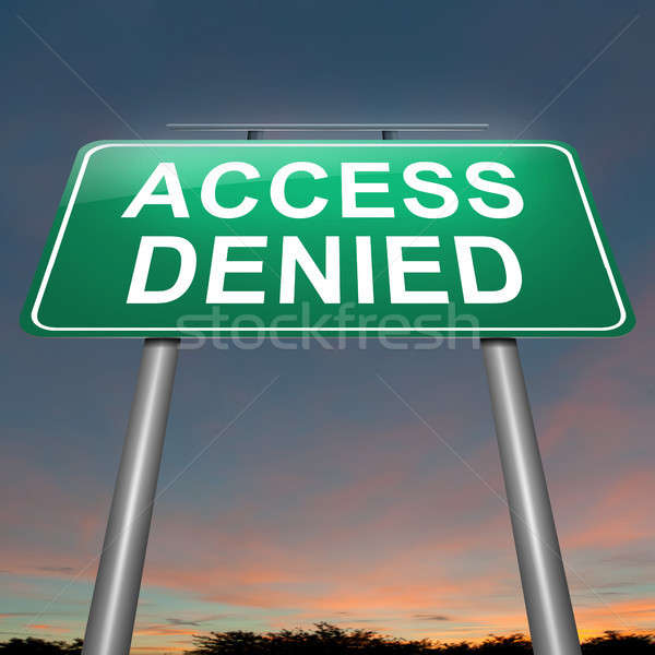 Access denied concept. Stock photo © 72soul
