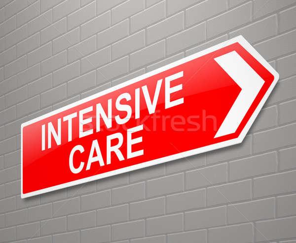 Intensief zorg teken illustratie geneeskunde leven Stockfoto © 72soul