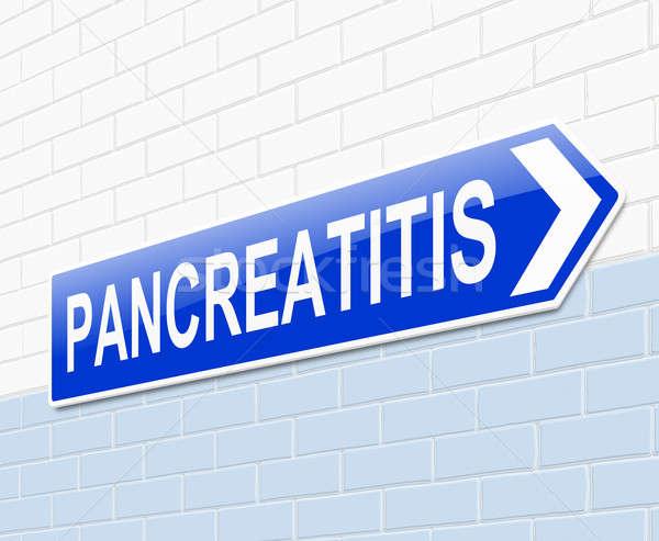 иллюстрация знак медицинской больницу синий концепция Сток-фото © 72soul