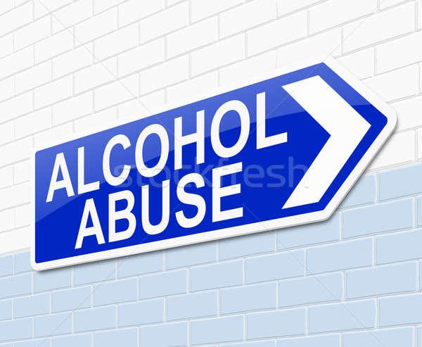 алкоголя злоупотребление иллюстрация знак медицинской больницу Сток-фото © 72soul