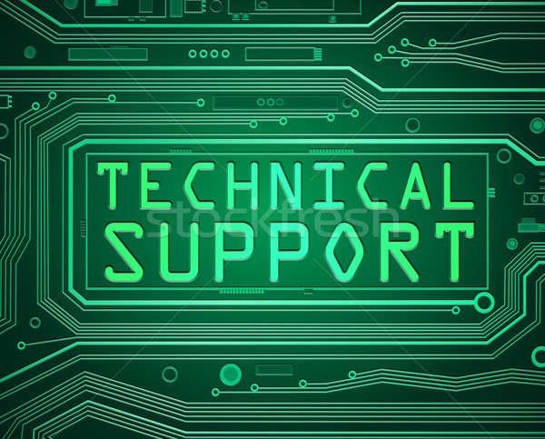 Technische ondersteuning abstract stijl illustratie printplaat onderdelen Stockfoto © 72soul